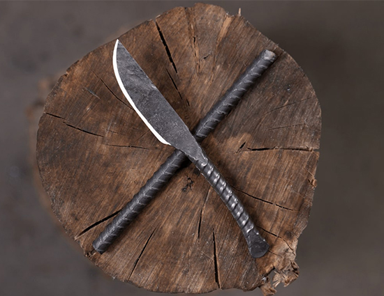 Rebar Knife From Blacksmith Knife Making Class